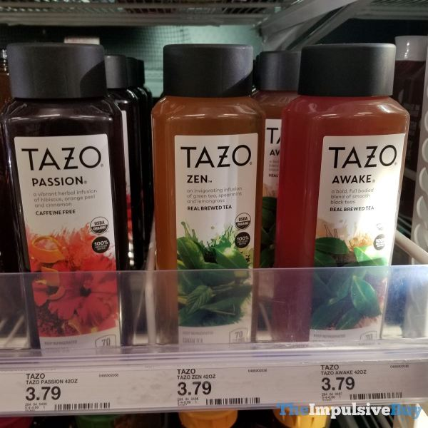 Tazo Passion Zen and Awake Bottled Teas  42 oz