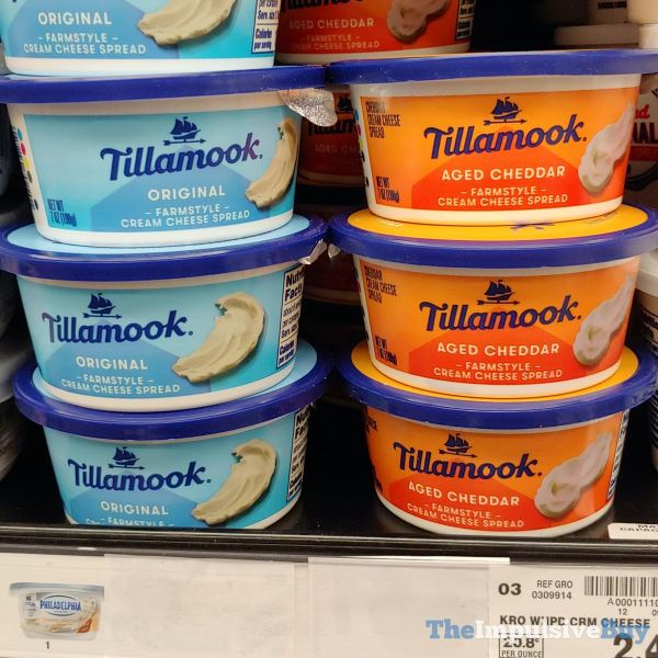 Tillamook Original and Aged Cheddar Farmstyle Cream Cheese Spread
