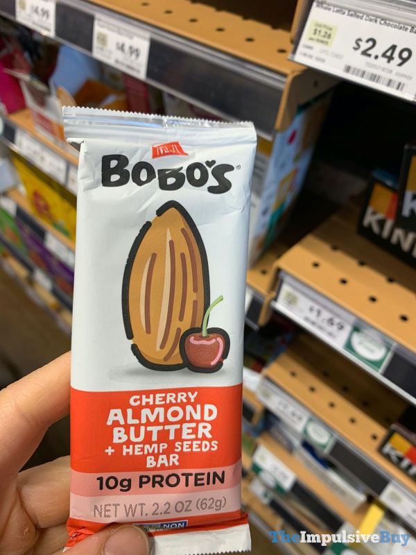 Bobo s Cherry Almond Butter + Hemp Seeds Bar