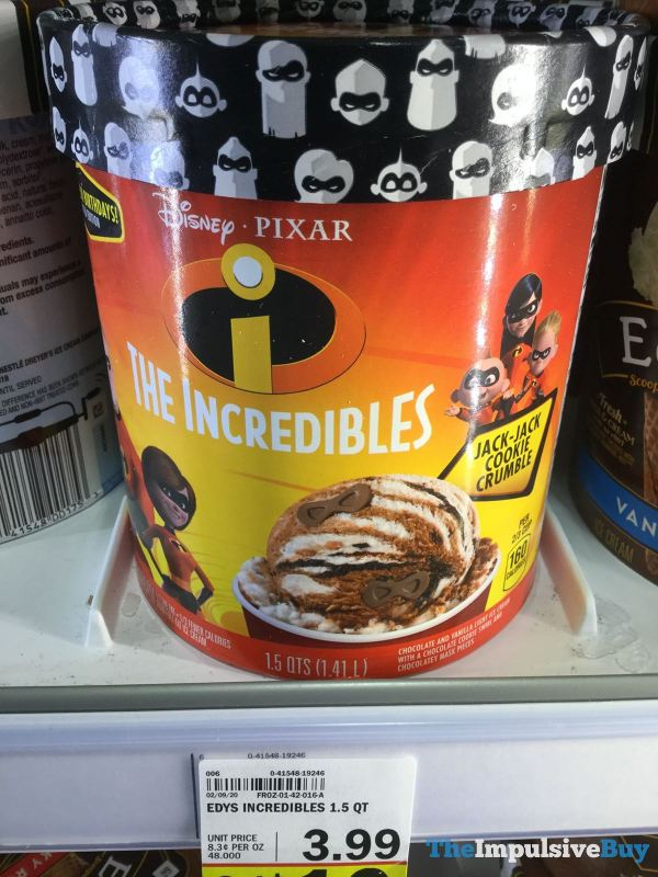 Disney Pixar The Incredibles Jack Jack Cookie Crumble Ice Cream
