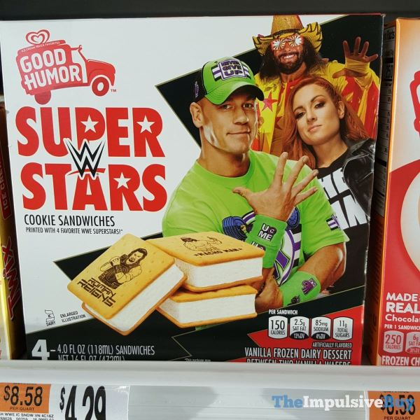 Good Humor WWE Superstars Cookie Sandwiches