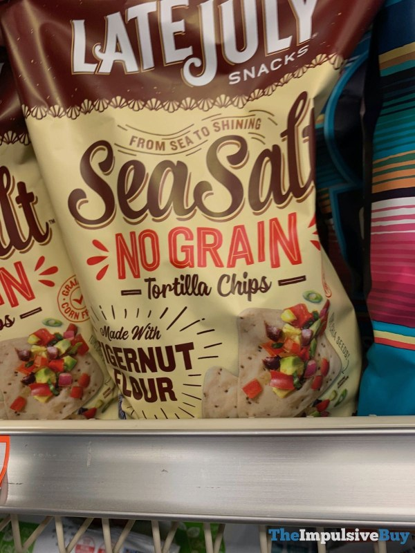 Late July Snacks Sea Salt No Grain Tortilla Chips made with Tigernut Flour