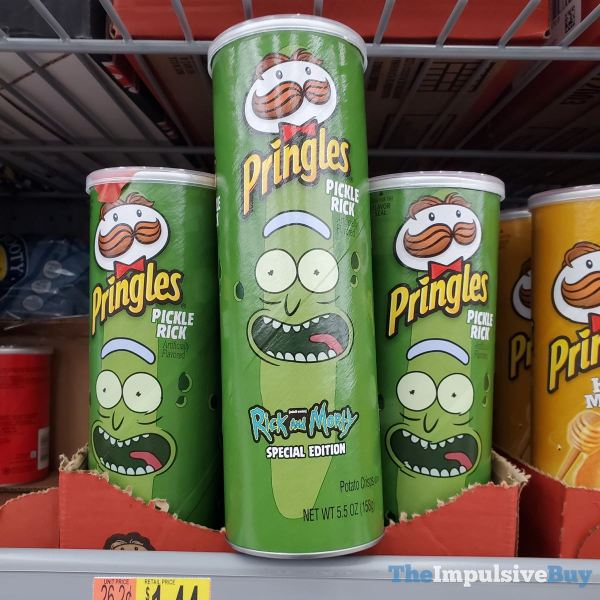 Rick and Morty Special Edition Pickle Rick Pringles