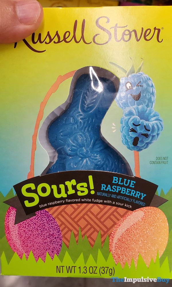 Russell Stover Sours Blue Raspberry Bunny