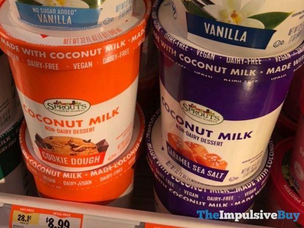 Sprouts Coconut Milk Non Dairy Dessert  Cookie Dough and Caramel Sea Salt