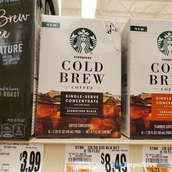 Starbucks Cold Brew Coffee Single Serve Concentrate Signature Black