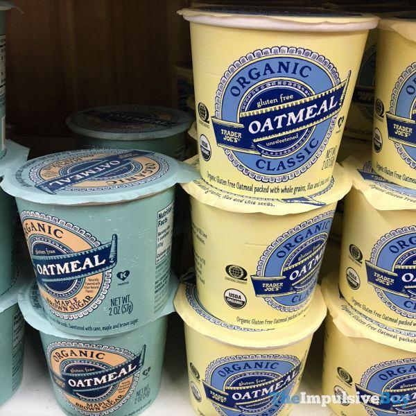 Trader Joe s Organic Gluten Free Oatmeal  Classic and Maple Brown Sugar