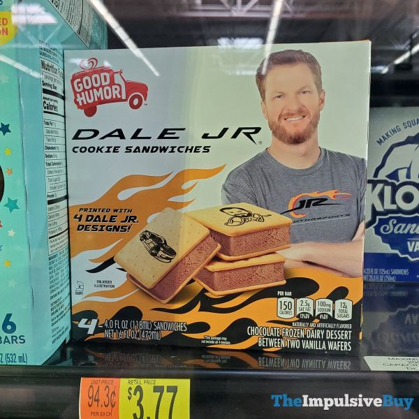 Good Humor Dale Jr Cookie Sandwiches