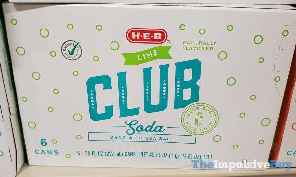 H E B Lime Club Soda