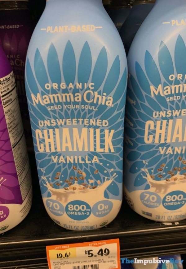 Mamma Chia Organic Vanilla Unsweetened Chiamilk