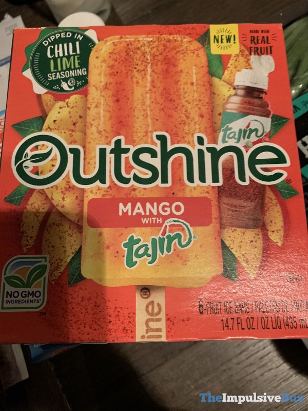 Outshine Mango with Tajin Chili Lime Seasoning Fruit Ice Bars