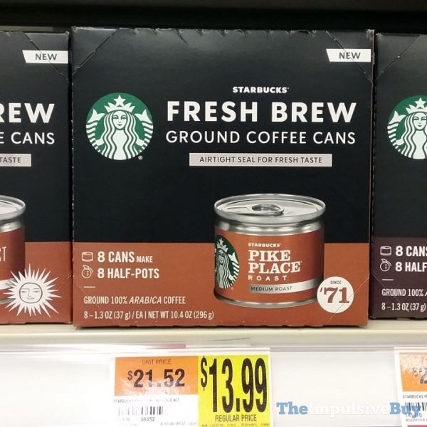 Starbucks Fresh Brew Pike Place Roast Ground Coffee Cans