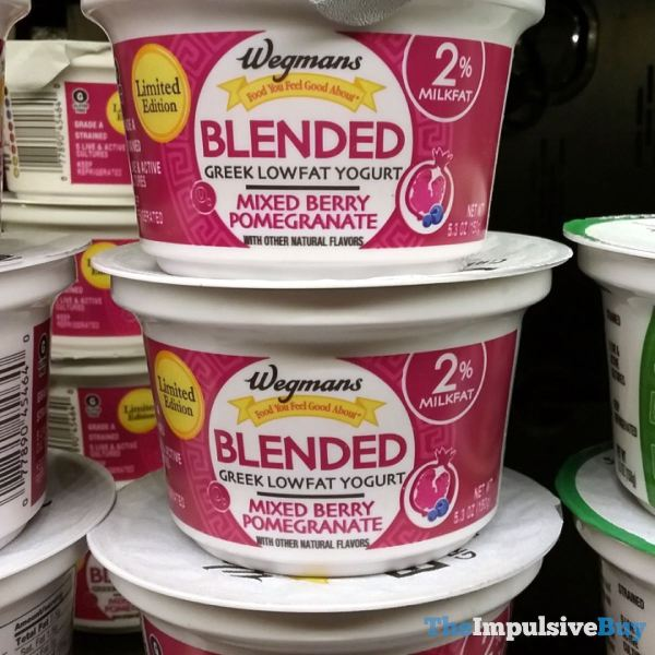 Wegmans Limited Edition Blended Greek Lowfat Yogurt Mixed Berry Pomegranate