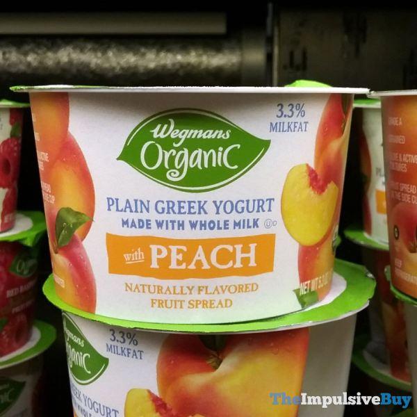 Wegmans Organic Greek Yogurt with Peach