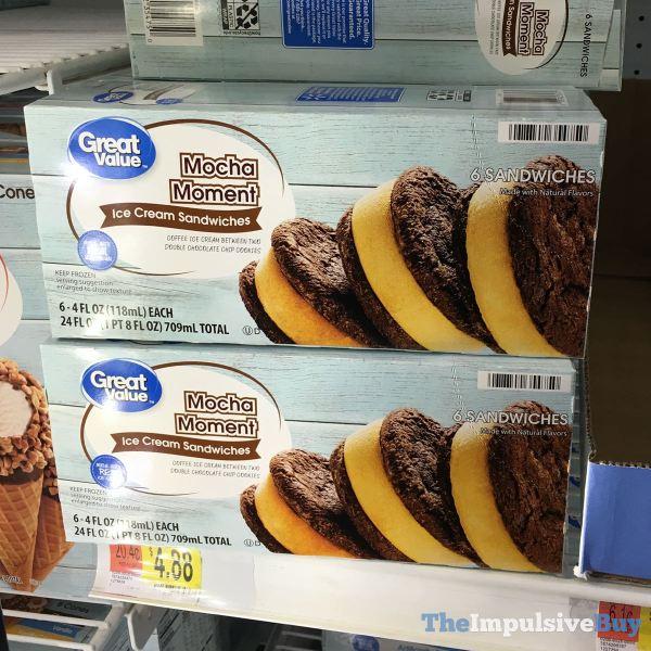 Great Value Mocha Moment Ice Cream Sandwiches