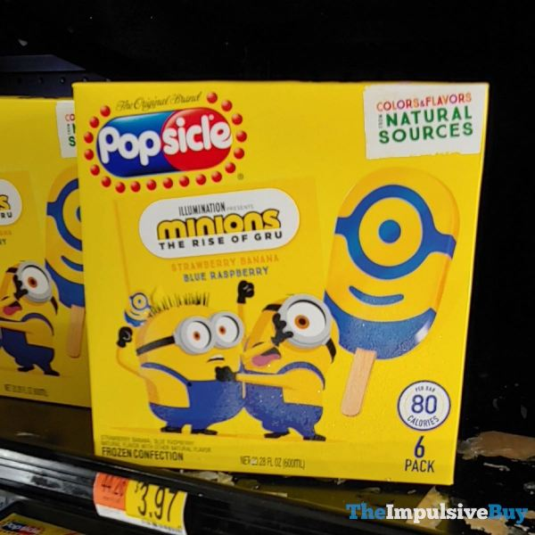 Popsicle Minions The Rise of Gru Frozen Confections