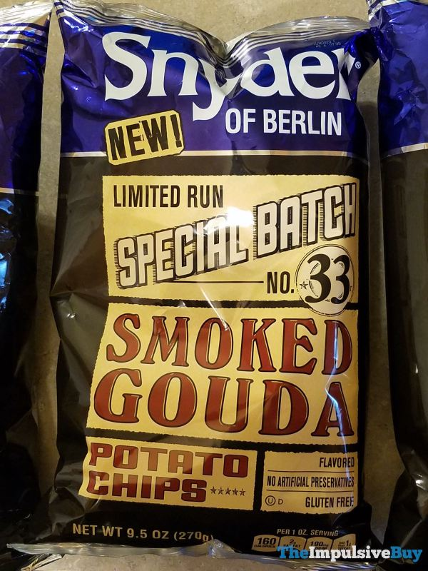 Snyder of Berlin Special Batch No 33 Smoked Gouda Potato Chips