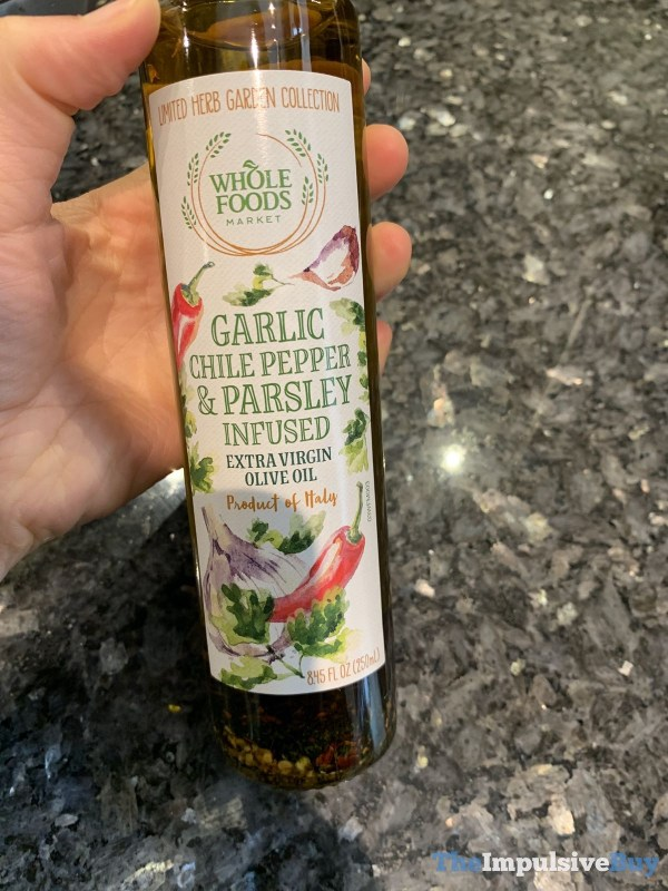 Whole Foods Limited Herb Garden Collection Garlic Chile Pepper  Parsley Infused Extra Virgin Olive Oil