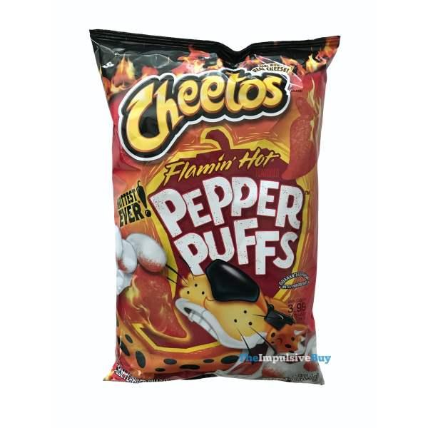 Cheetos Flamin Hot Pepper Puffs