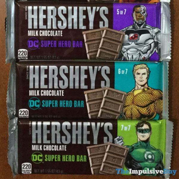 Hershey s Milk Chocolate DC Super Hero Bars 5 7