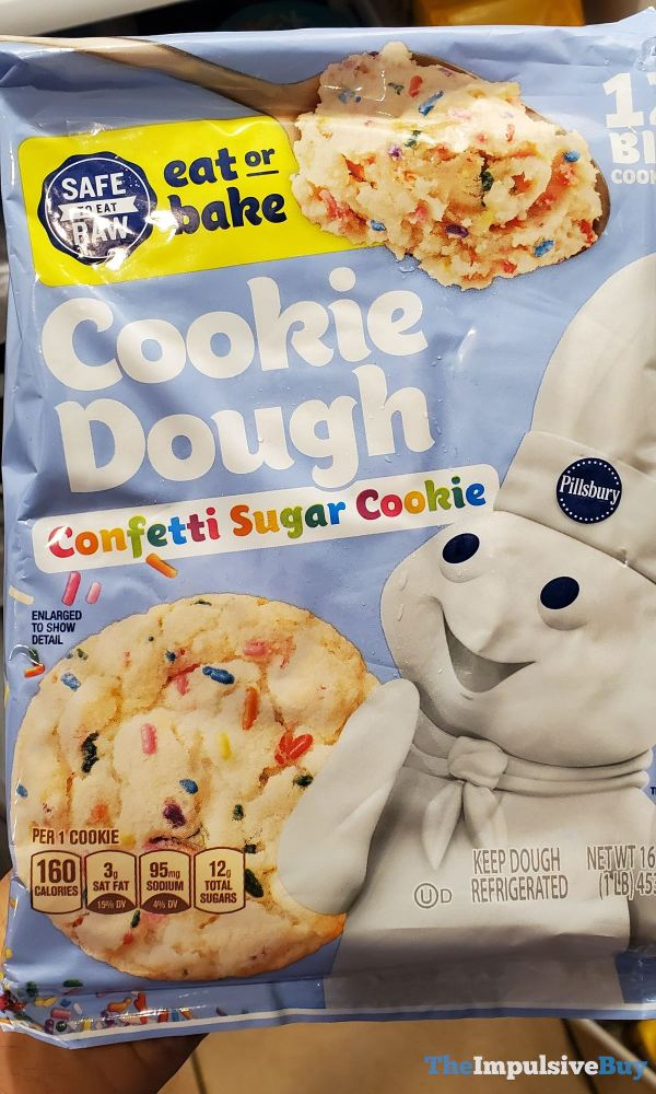 Pillsbury Safe to Eat Raw Confetti Sugar Cookie Cookie Dough