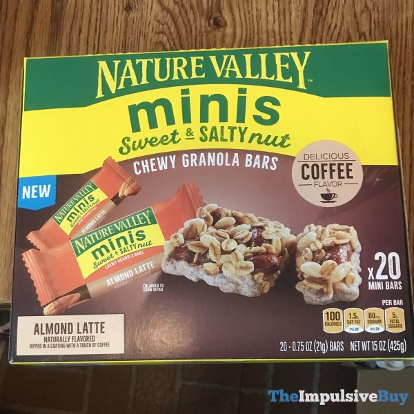 Nature Valley Almond Latte Minis Sweet  Salty Nut Chewy Granola Bars