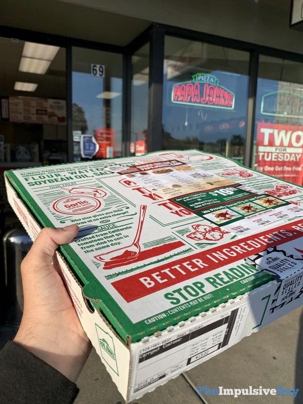 Papa John s Shaq a Roni Pizza Box