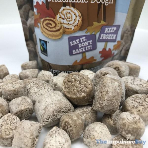 Ben  Jerry s Limited Batch Cinnamon Bun Dough Chunks Closeup