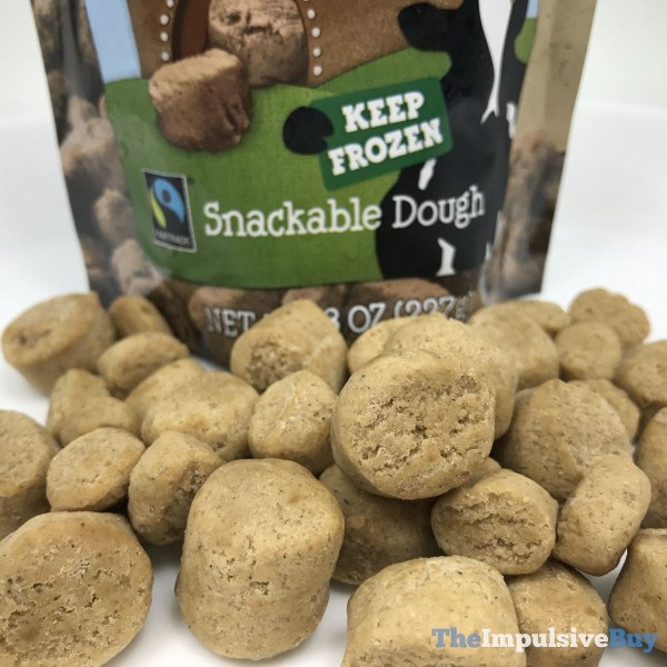 Ben  Jerry s Limited Batch Gingerbread Cookie Dough Chunks Closeup