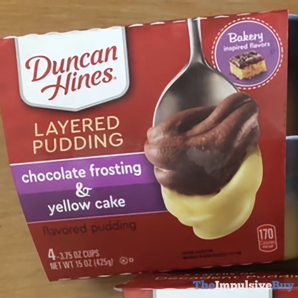 Duncan Hines Layered Pudding Chocolate Frosting  Yellow Cake