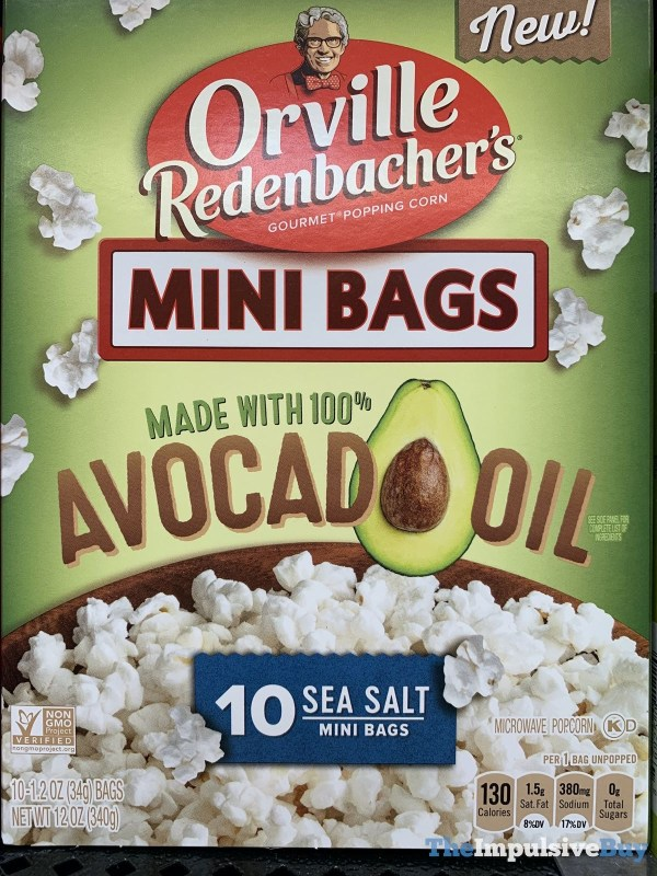 Orville Redenbacher s Mini Bags Made with 100 Avocado Oil