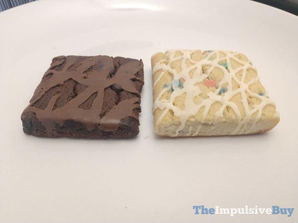 Pillsbury Chocolate Fudge Brownies and Birthday Cake Bars Top