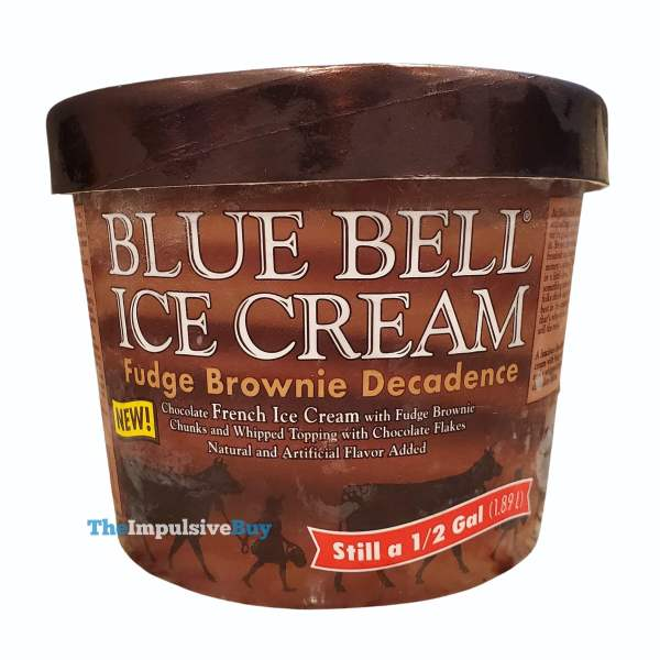 Blue Bell Fudge Brownie Decadence Ice Cream