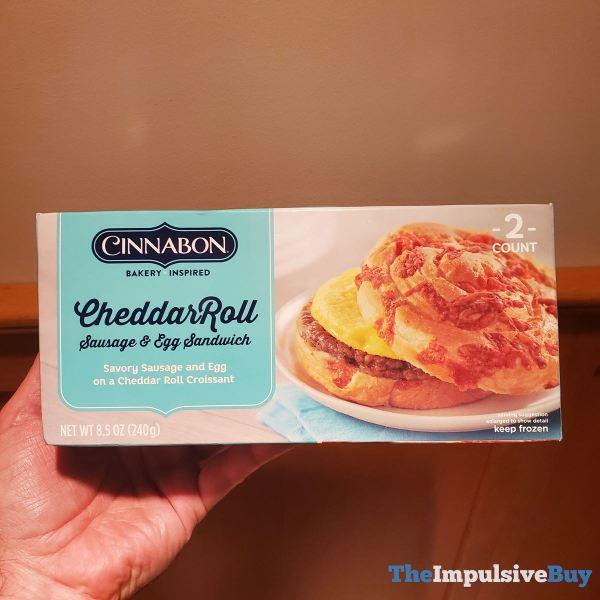 Cinnabon Breakfast Creations CheddarRoll Sausage  Egg Sandwich