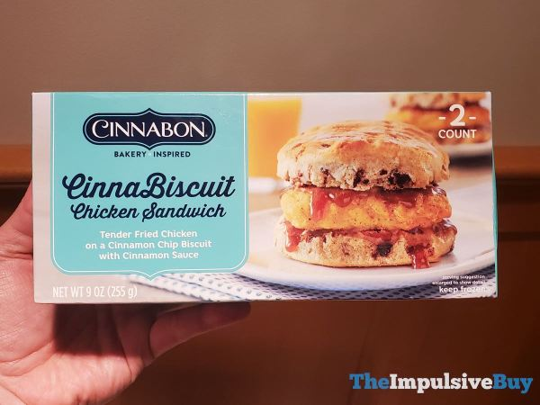 Cinnabon Breakfast Creations CinnaBiscuit Chicken Sandwich