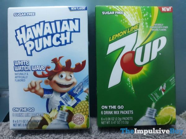 Hawaiian Punch White Water Wave and Lemon Lime 7Up On The Go Drink Mix Packets