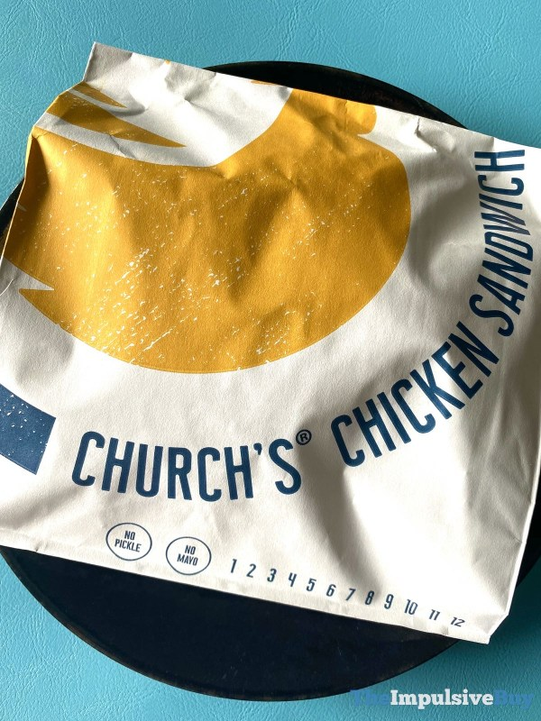 Church s Chicken Sandwich Wrapper