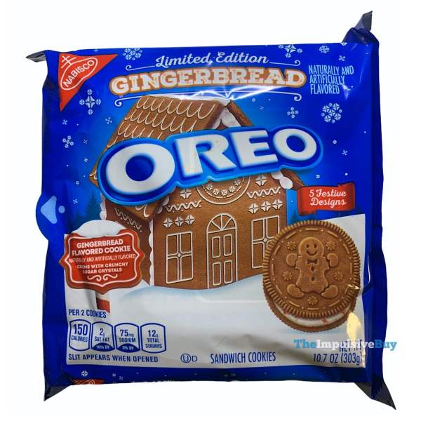 Limited Edition Gingerbread Oreo Cookies 2020 Package