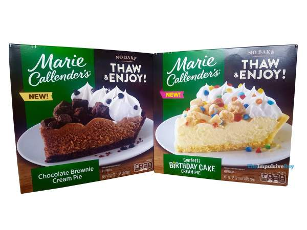 Marie Callender s Confetti Birthday Cake and Chocolate Brownie Cream Pies Boxes