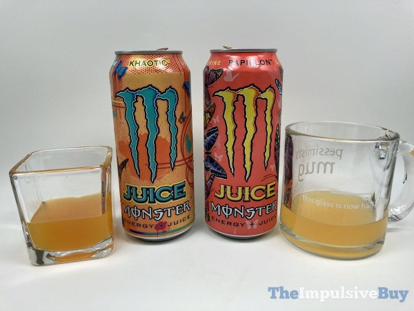 Monster Papillon and Khaotic Energy Juices Glasses