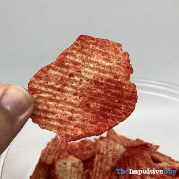 Ruffles Baked Flamin Hot Potato Crisps Closerup