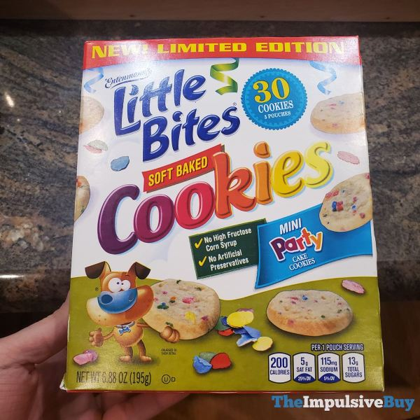 Entenmann s Limited Edition Little Bites Soft Baked Cookies Mini Party Cake Cookies