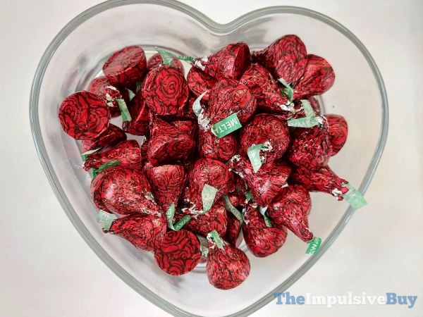 Hershey s Kisses Milk Chocolate Meltaway Roses Bowl