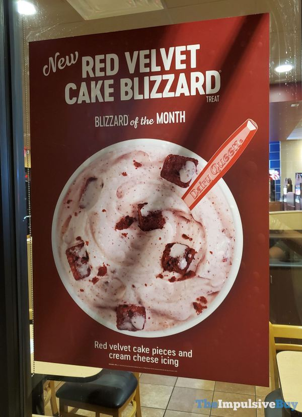 Dairy Queen Red Velvet Cake Blizzard Sign