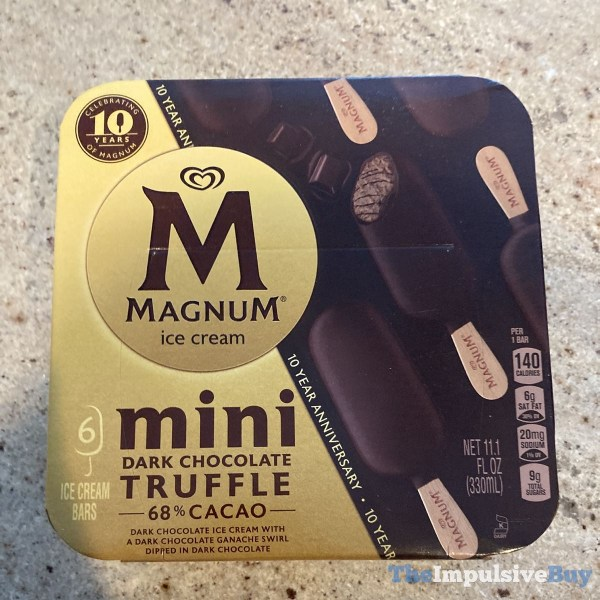 Magnum Ice Cream Mini Dark Chocolate Truffle Bars