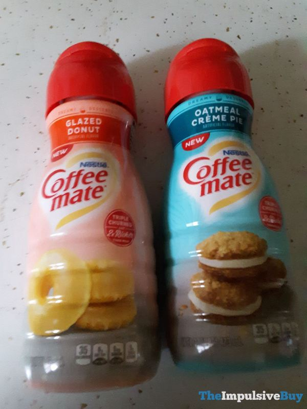 Nestle Coffee mate Glazed Donut and Oatmeal Creme Pie Creamers