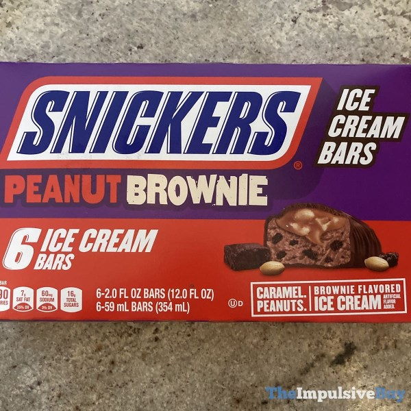 Snickers Peanut Brownie Ice Cream Bars 6 Pack