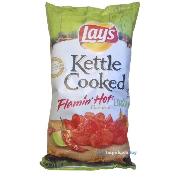 Lay s Kettle Cooked Flamin Hot Limon Potato Chips Bag
