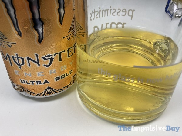 Monster Energy Ultra Gold Closeup