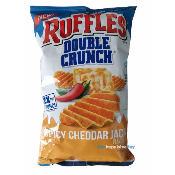 Ruffles Double Crunch Spicy Cheddar Jack Potato Chips Bag
